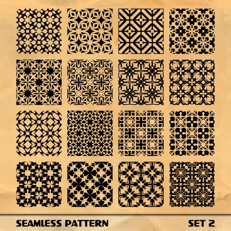 guilloche: SEAMLESS PATTERN  SET 2 Illustration