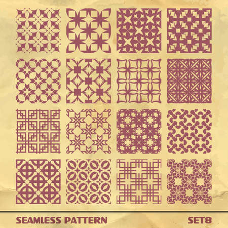 SEAMLESS PATTERN  SET 8 Vector