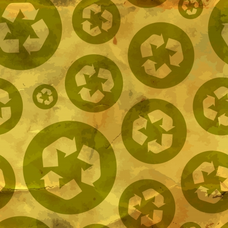 Recycle symbol  Seamless pattern  Vector