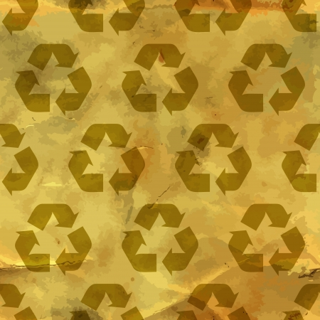 Recycle symbol  Seamless pattern  Stock Vector - 17503857