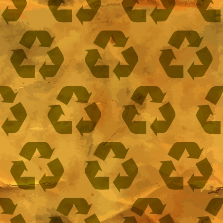 Recycle symbol  Seamless pattern Stock Vector - 18543071