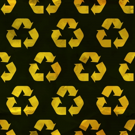 infinity road: Recycle symbol  Seamless pattern