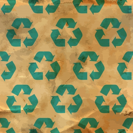 packaging industry: Recycle symbol  Seamless pattern