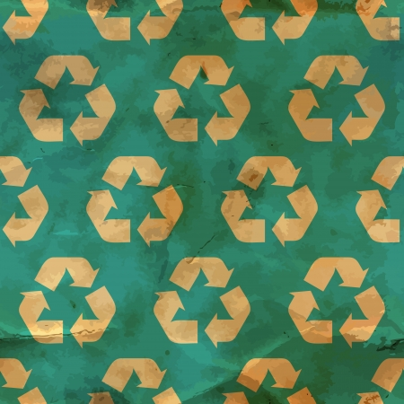 Recycle symbol  Seamless pattern Stock Vector - 17497468
