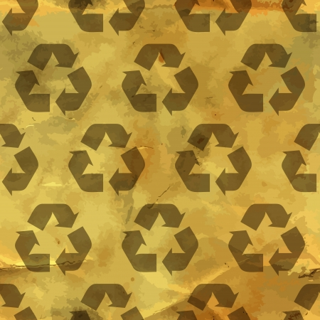 Recycle symbol  Seamless pattern  Stock Vector - 17497469