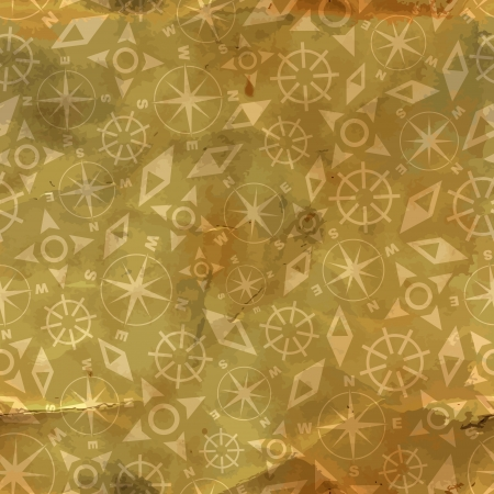 Compass  Seamless pattern  Vector