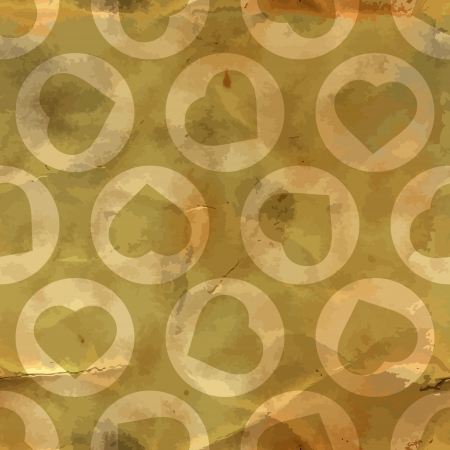 amur: Heart  Seamless pattern  Illustration