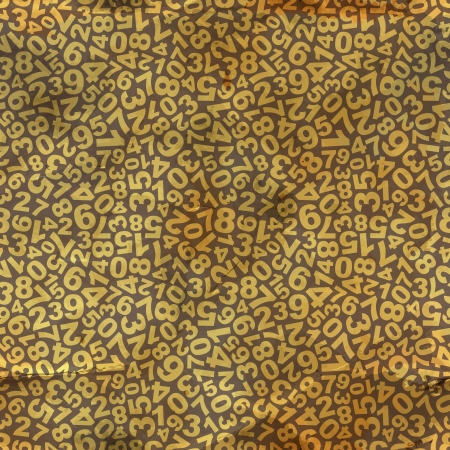 secondary: Numbers  Seamless pattern