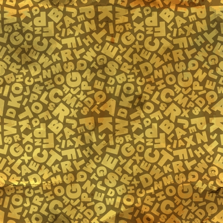 old english letters: Letters  Seamless pattern