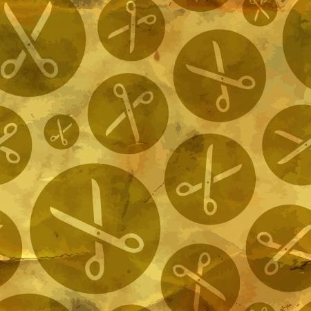 Scissors  Seamless pattern  Vector