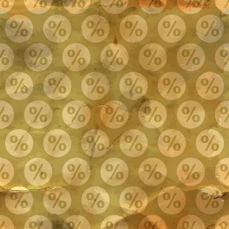 Percent  Seamless pattern  Vector