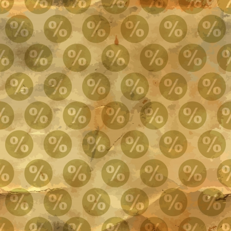 Percent  Seamless pattern  Vector
