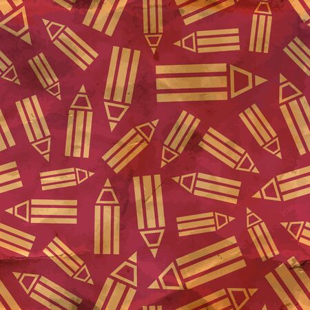 Pencils  Seamless pattern  Vector