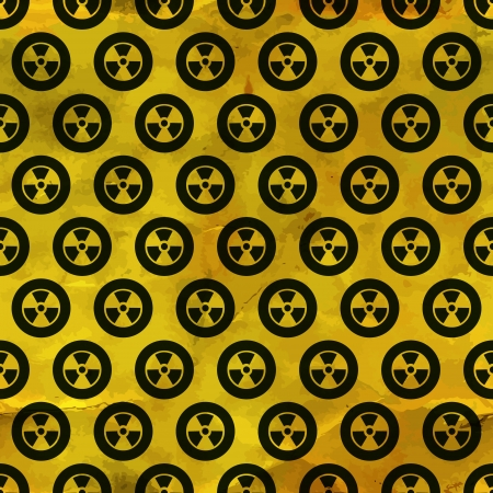 caution chemistry: Radiation  Seamless pattern  Illustration
