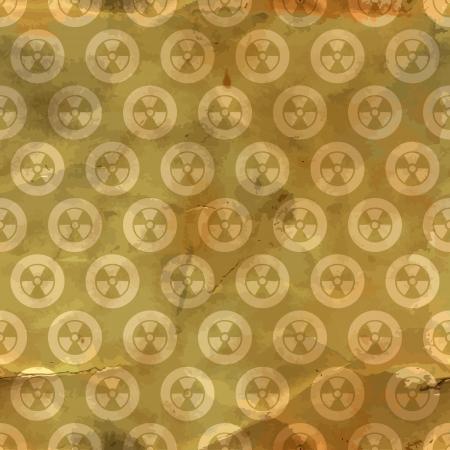 cold fusion: Radiation  Seamless pattern  Illustration