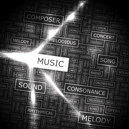 popular music concert: MUSICA Parola di collage