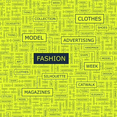FASHION  Word collage Stock Vector - 18433889