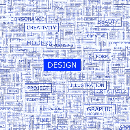 DESIGN  Word collage Vector