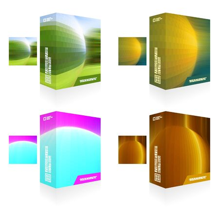 size distribution: Abstract packaging box