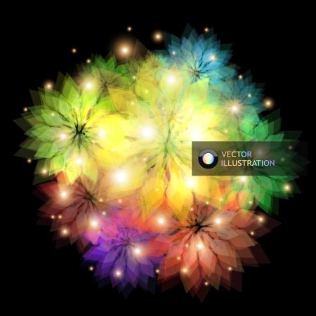 cosmic rays: Floral illustration Illustration