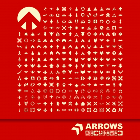 original circular abstract: Arrows  GREAT COLLECTION  Illustration