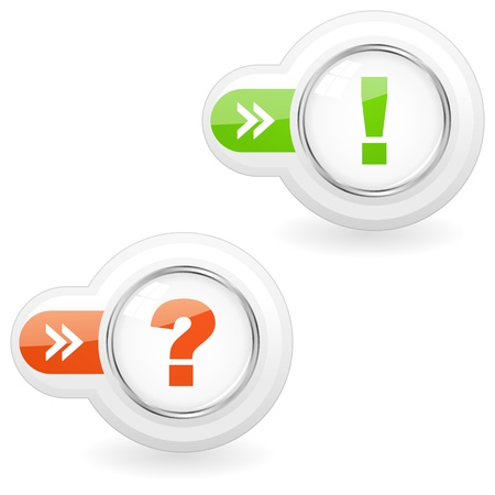 questioner: Exclamation and question elements
