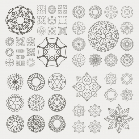 Collection de différents éléments graphiques pour la conception