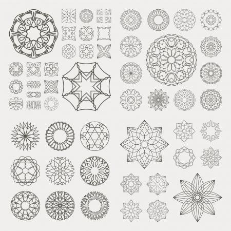 Sammlung von verschiedenen grafische Elemente für Design Standard-Bild - 19371982