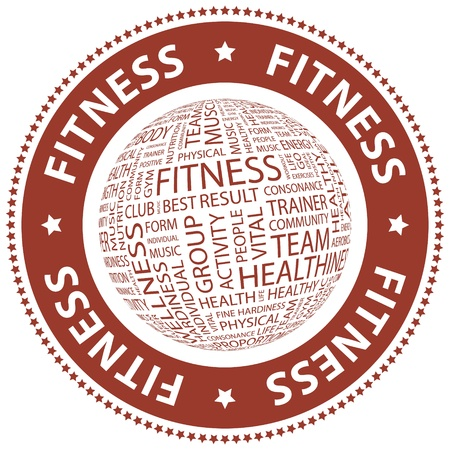 healthiness: FITNESS collage Palabra
