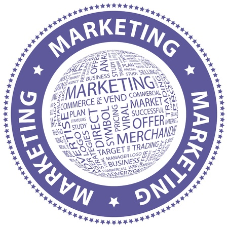 MARKETING  Word collage Vector