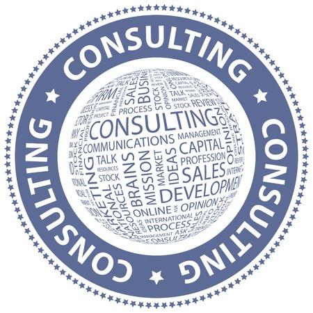 CONSULTATION Word collage Illustration