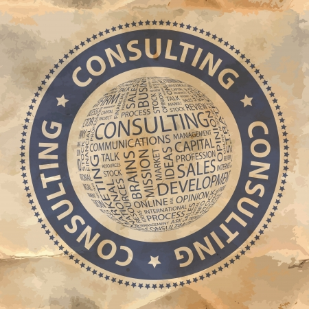 CONSULTING  Word collage  Vector