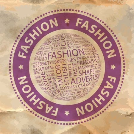 FASHION  Word collage  Vector