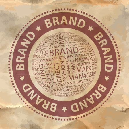 BRAND  Word collage  Vector
