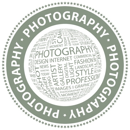 PHOTOGRAPHY  Word collage Stock Vector - 18432921