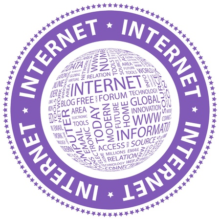 INTERNET  Word collage Stock Vector - 18432559