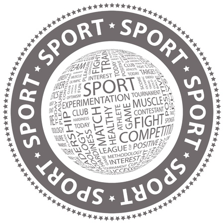olympic game: SPORT  Word collage Illustration