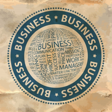 BUSINESS  Word collage Stock Vector - 19373335
