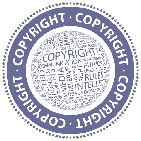 property rights: COPYRIGHT  Word collage Illustration