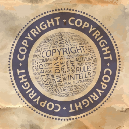 COPYRIGHT Word collage