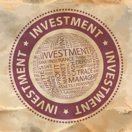 INVESTMENT  Word collage  Vector