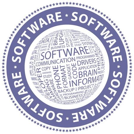 freeware: SOFTWARE  Word collage Illustration