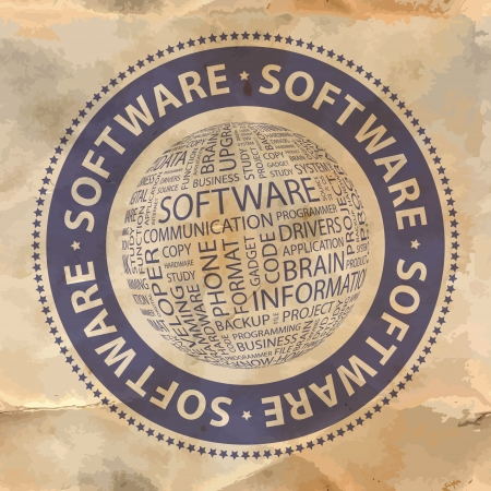 license: SOFTWARE  Word collage