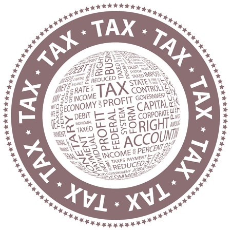 TAX  Word collage Vector