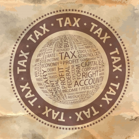 TAX Word collage Illustration
