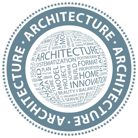 ARCHITECTURE  Word collage Vector