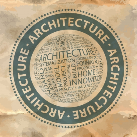 ARCHITECTURE  Word collage  Stock Vector - 19373347