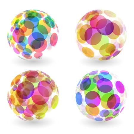 esfera: Ilustração abstrata