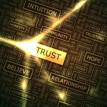 reliance: TRUST  Word collage  Illustration