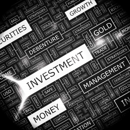 safe investments: Parola INVESTIMENTO collage